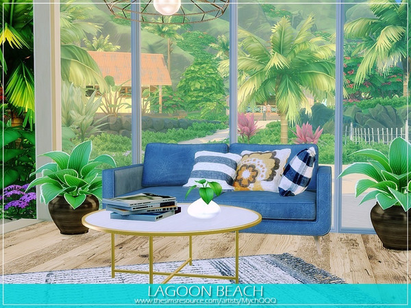 Lagoon Beach house by MychQQQ at TSR image 1380 Sims 4 Updates