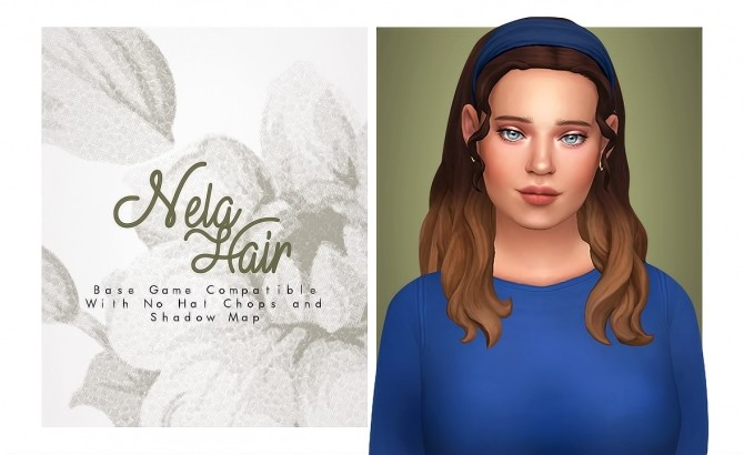 Sims 4 Nela Hair at Isjao – working on uni