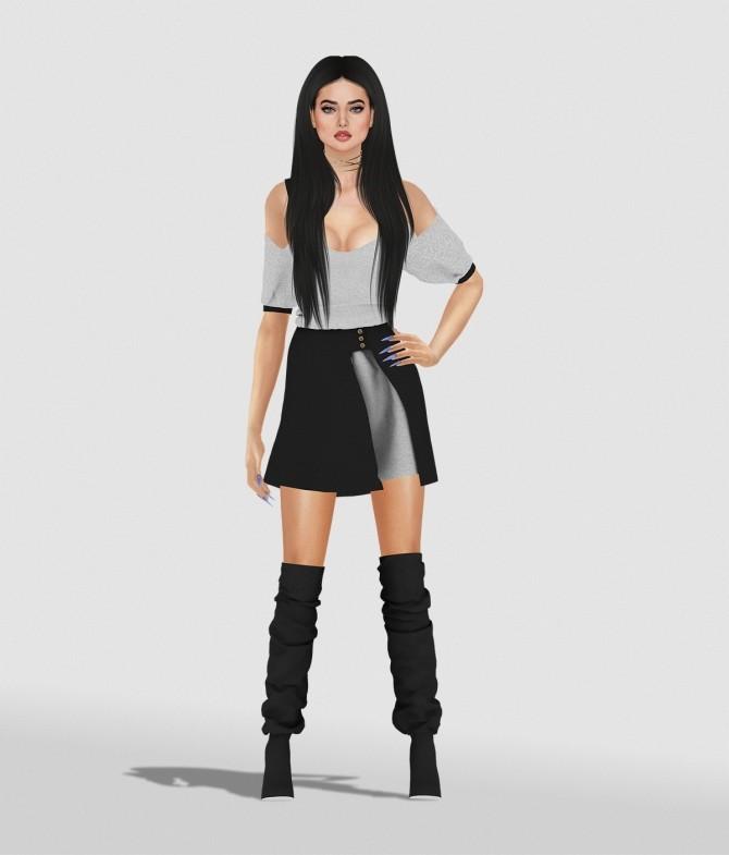 Sims 4 KATY DRESS by Thiago Mitchell at REDHEADSIMS