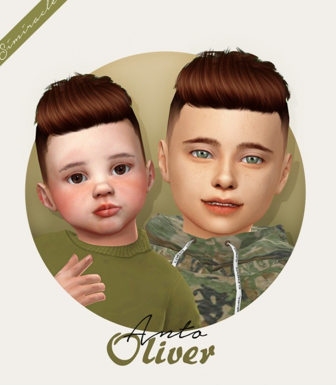 Anto Oliver hair for kids and toddlers at Simiracle image 13910 670x767 Sims 4 Updates