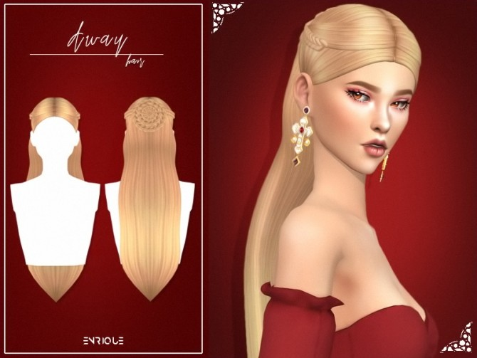 Sims 4 Away Hairstyle at Enriques4