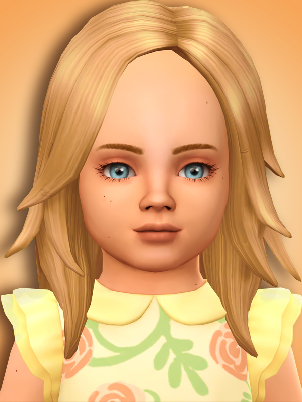Sims 4 Toddler Longrocker Hair Conversions at MSQ Sims