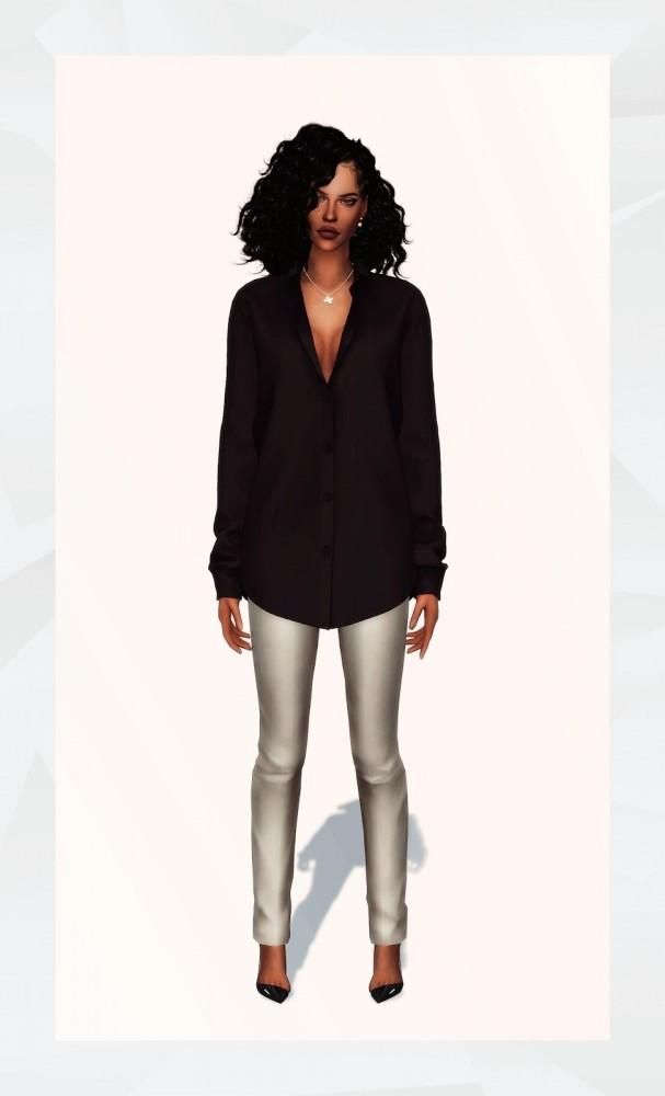Oversized Shirt at Gorilla image 1404 607x1000 Sims 4 Updates
