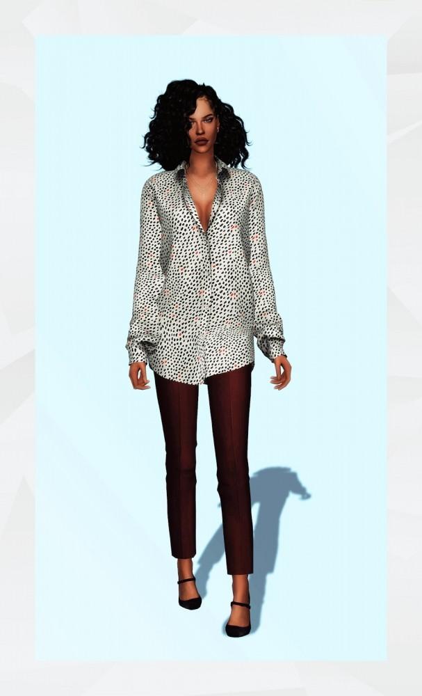 Oversized Shirt at Gorilla image 1418 607x1000 Sims 4 Updates