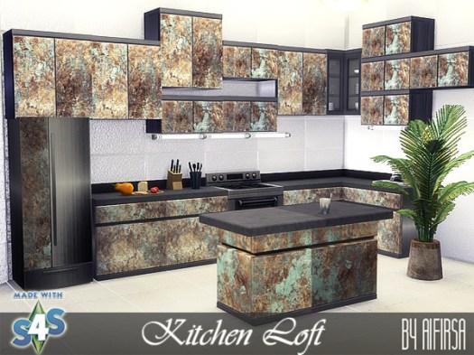 Loft kitchen at Aifirsa image 14410 Sims 4 Updates