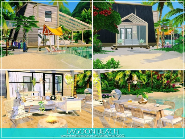 Lagoon Beach house by MychQQQ at TSR image 1459 Sims 4 Updates