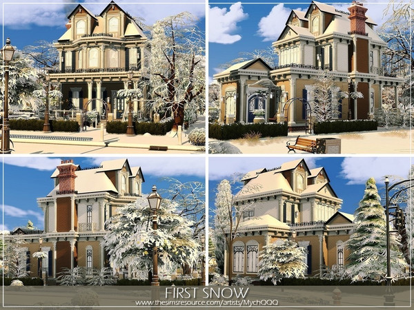 Sims 4 First Snow house by MychQQQ at TSR