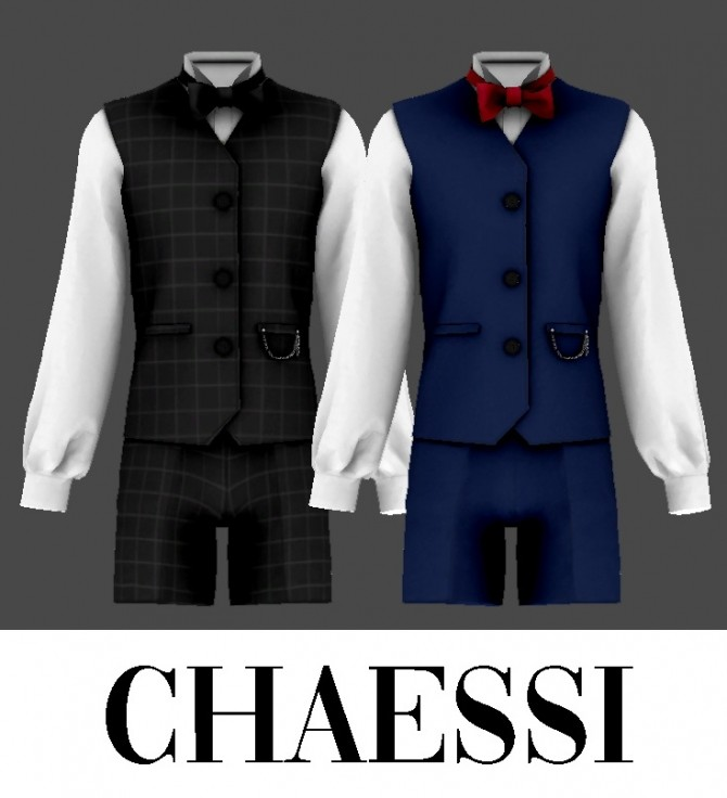 Sims 4 Male suit at Chaessi