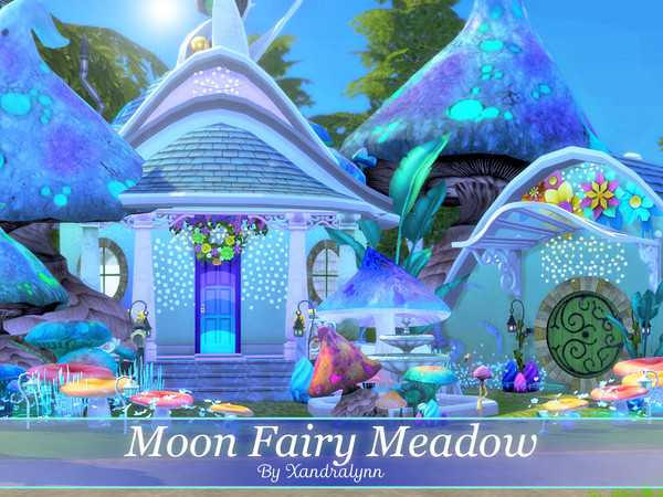 Moon Fairy Meadow tiny one story house by Xandralynn at TSR image 1520 Sims 4 Updates