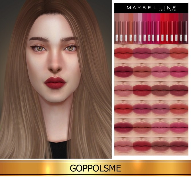 Sims 4 GPME GOLD Super Stay Ink Crayon (P) at GOPPOLS Me