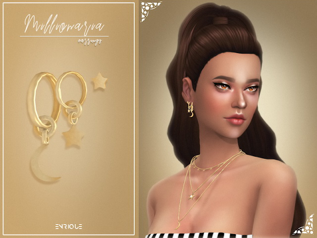 Sims 4 Millionaria Earrings at Enriques4