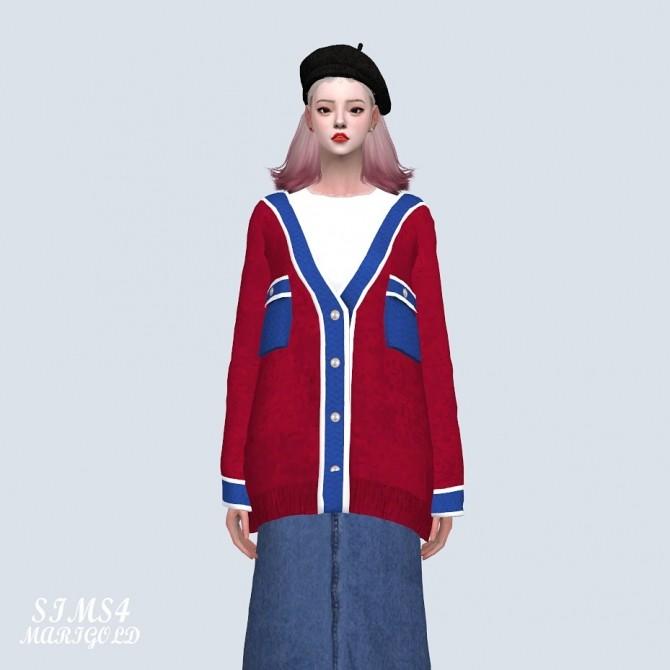 Sims 4 Pocket Loose fit Cardigan (P) at Marigold