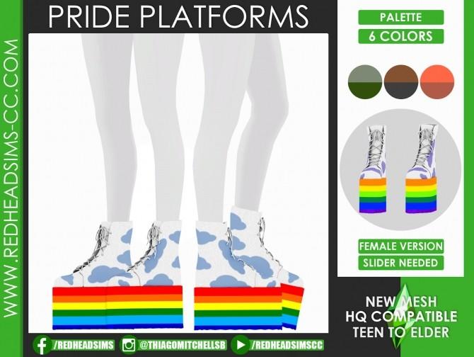 PRIDE PLATFORMS by Thiago Mitchell at REDHEADSIMS image 1568 670x504 Sims 4 Updates