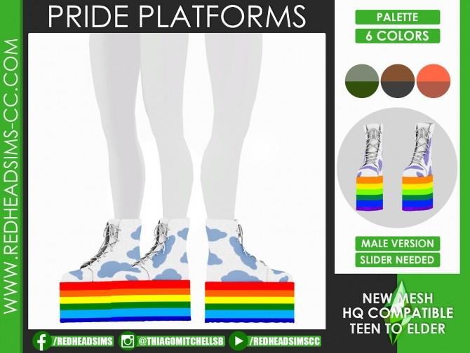 PRIDE PLATFORMS by Thiago Mitchell at REDHEADSIMS image 1579 670x504 Sims 4 Updates