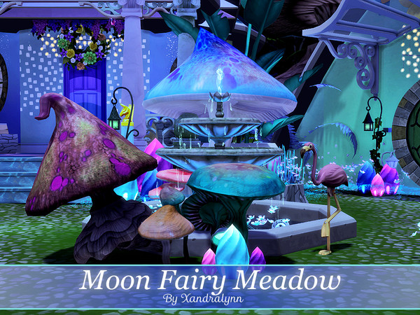 Moon Fairy Meadow tiny one story house by Xandralynn at TSR image 1625 Sims 4 Updates