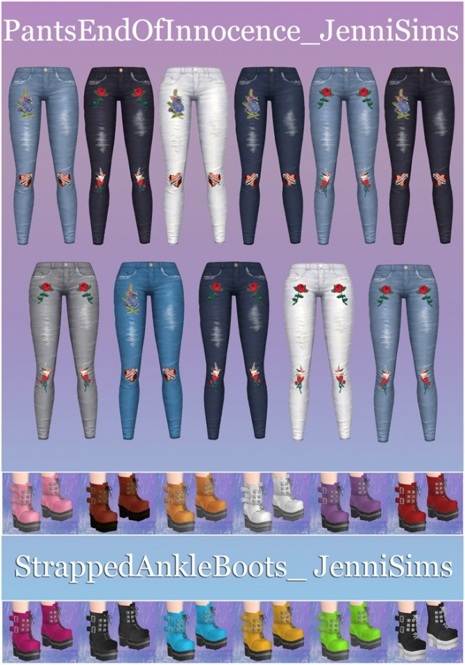Jeans & Boots Cybergoth World Collection at Jenni Sims image 163 670x957 Sims 4 Updates