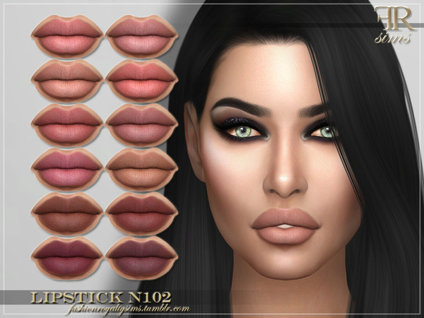 Sims 4 FRS Lipstick N102 by FashionRoyaltySims at TSR