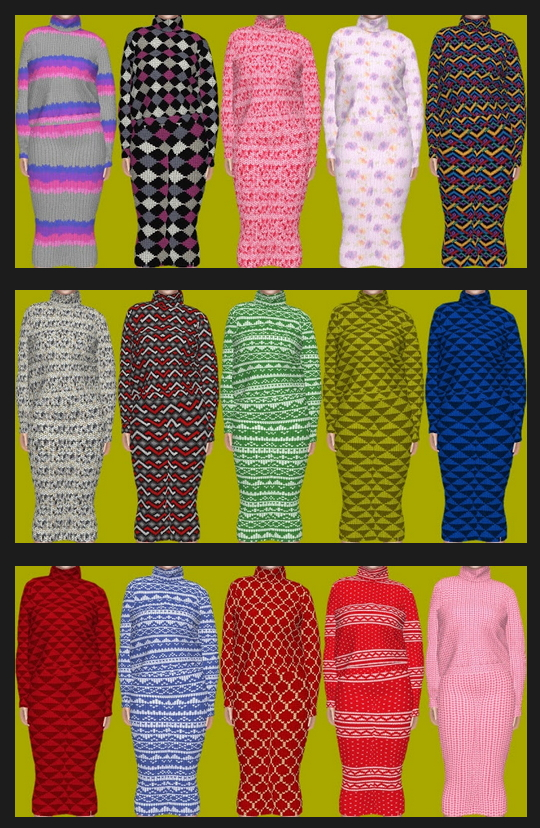 ChloeM's Knitted Recolors at Annett's Sims 4 Welt image 1689 Sims 4 Updates