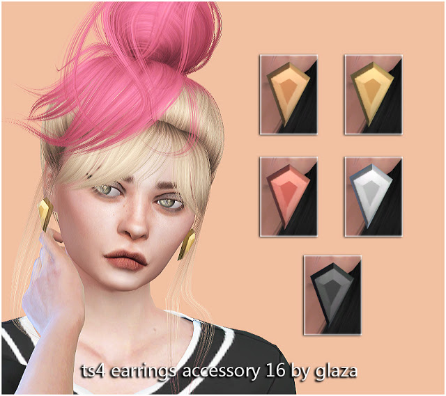 Sims 4 Earrings 16 at All by Glaza