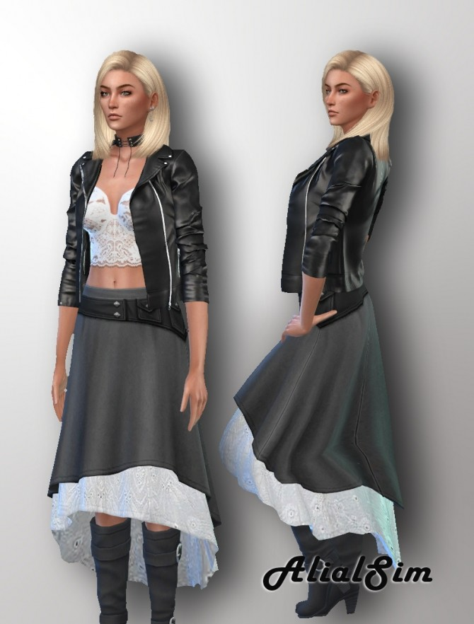Sims 4 Skirt ROM at Alial Sim