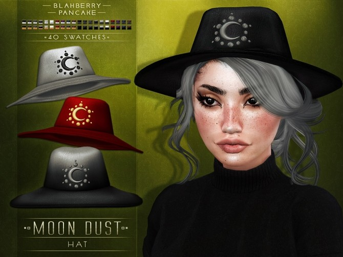 Sims 4 Moon Dust Hat at Blahberry Pancake