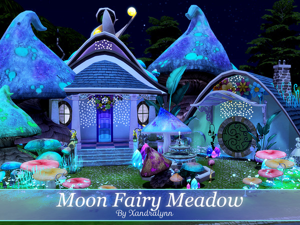 Moon Fairy Meadow tiny one story house by Xandralynn at TSR image 1725 Sims 4 Updates