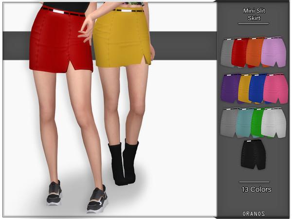 Mini Slit Skirt by OranosTR at TSR image 1726 Sims 4 Updates
