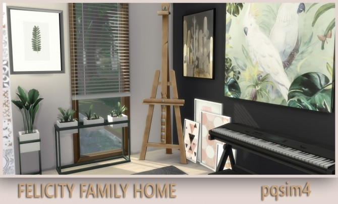 Sims 4 Felicity Family Home at pqSims4