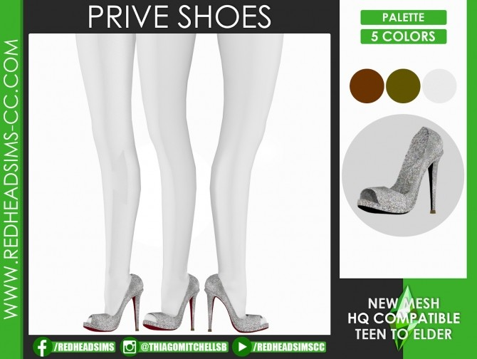 PRIVE SHOES at REDHEADSIMS image 176 670x504 Sims 4 Updates