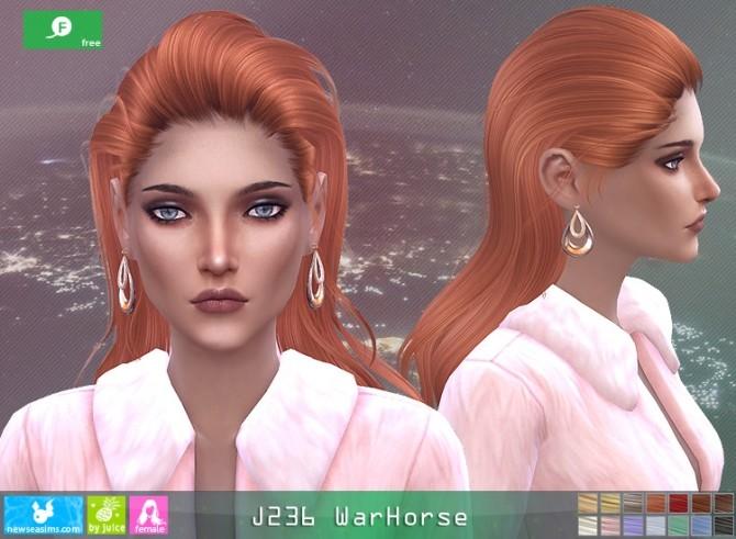 Sims 4 J236 WarHorse hair at Newsea Sims 4