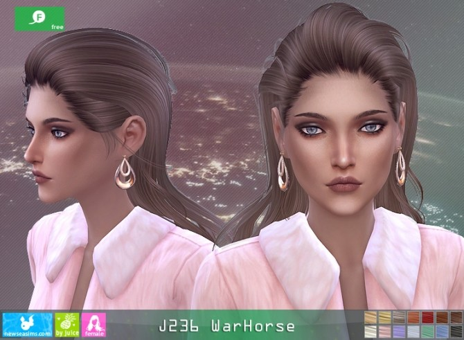 J236 WarHorse hair at Newsea Sims 4 image 180 670x491 Sims 4 Updates