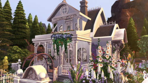 Sims 4 Witch's Cottage at BERESIMS