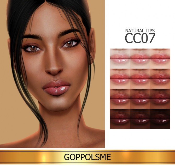 Sims 4 GPME GOLD Natural Lips CC7 at GOPPOLS Me