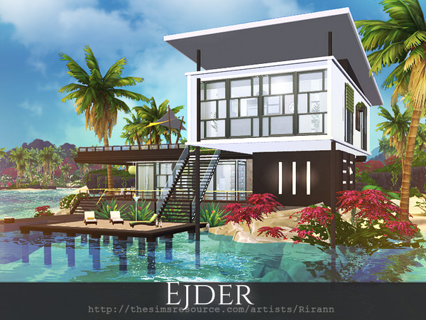 Ejder contemporary house by Rirann at TSR image 1818 Sims 4 Updates