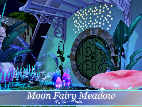 Moon Fairy Meadow tiny one story house by Xandralynn at TSR image 1825 Sims 4 Updates