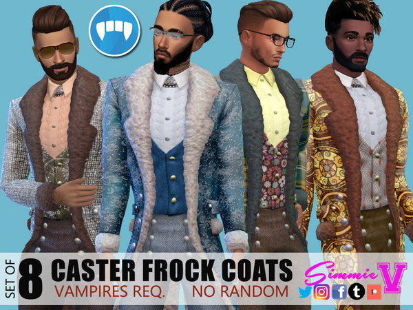 Sims 4 Caster Frock Coat by SimmieV at TSR