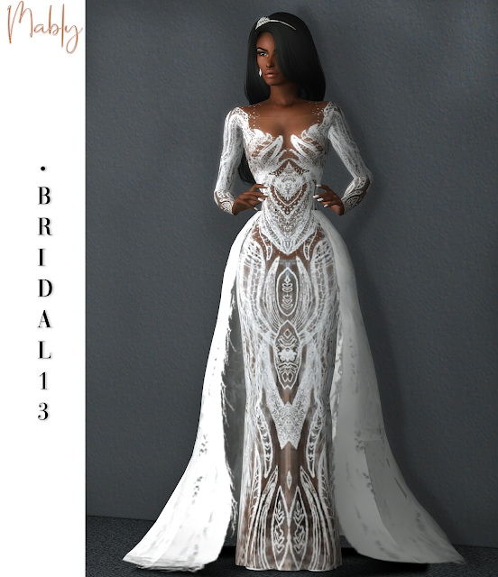 BRIDAL 13 gown at Mably Store image 1867 Sims 4 Updates