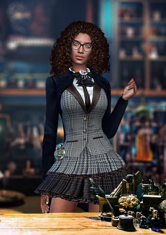 Sims 4 Magician Dress F at HoangLap's Sims
