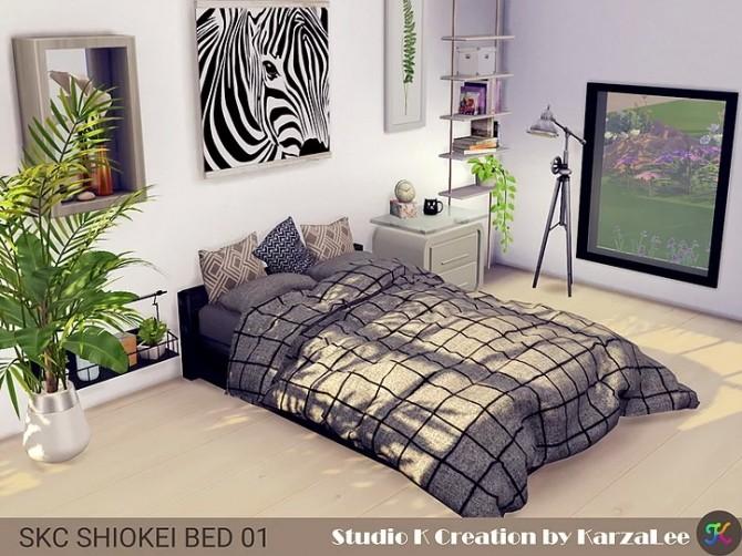 Sims 4 SKC SHIOKEI BED 01 at Studio K Creation