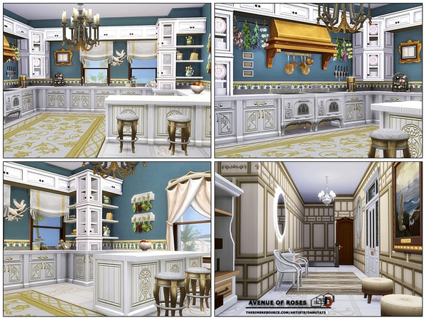 Sims 4 Avenue of Roses house by Danuta720 at TSR