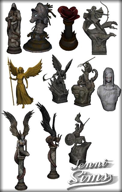 Decorative Statues Darkness Falls 11 Items at Jenni Sims image 2004 Sims 4 Updates