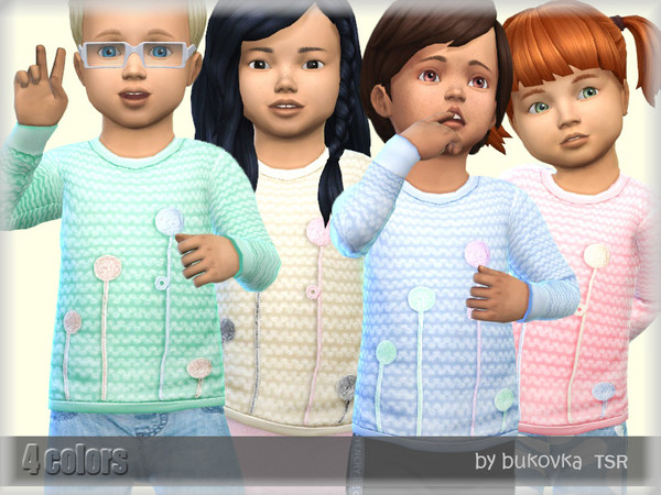 Sims 4 Sweater Pompons by bukovka at TSR