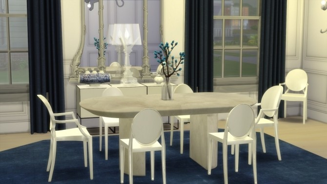 KNIFE EDGE DINING TABLE at Meinkatz Creations image 2095 670x377 Sims 4 Updates