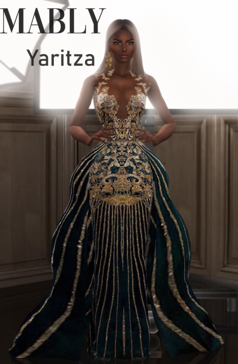 Sims 4 Yaritza Gown and Acc at Mably Store