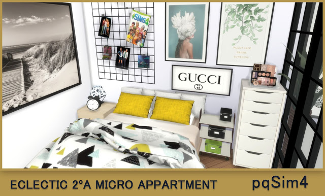 Sims 4 2A Eclectic Micro Apartment at pqSims4