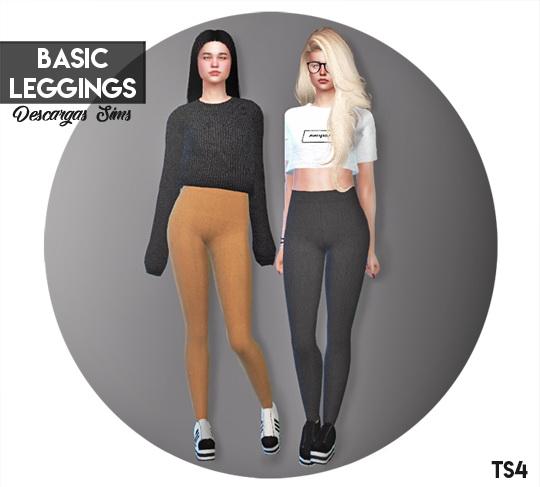 Sims 4 Basic Leggings at Descargas Sims