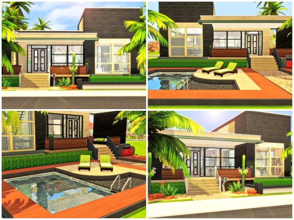 Anubis modern two story house by Xandralynn at TSR image 2128 Sims 4 Updates