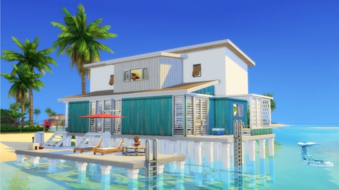 Sims 4 Colorful Beach House at ArchiSim