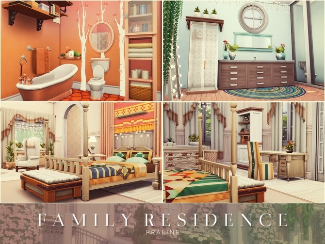 Sims 4 Family Residence by Praline at Cross Design