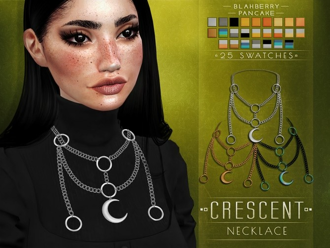 Sims 4 Crescent necklace at Blahberry Pancake